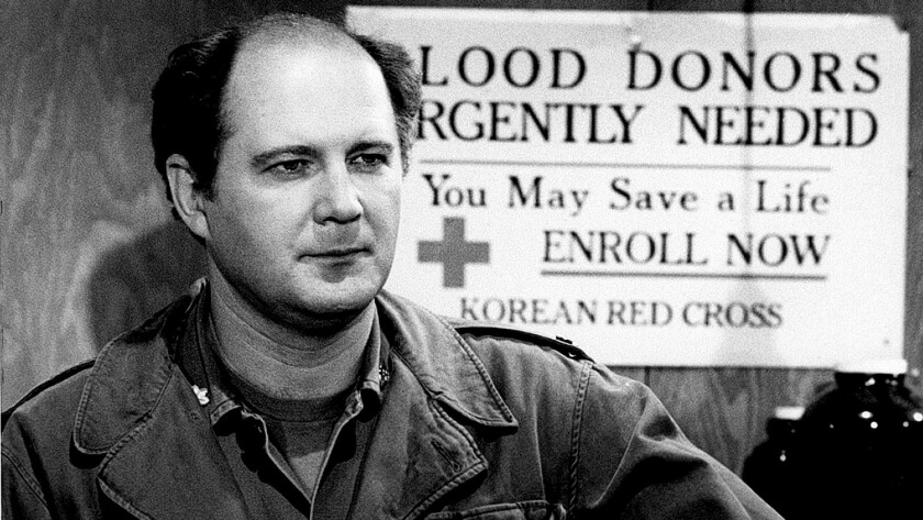 """David Ogden Stiers as Maj. Charles Emerson Winchester III in the CBS sitcom """"M*A*S*H,"""" which ran from 1972 to 1983."""