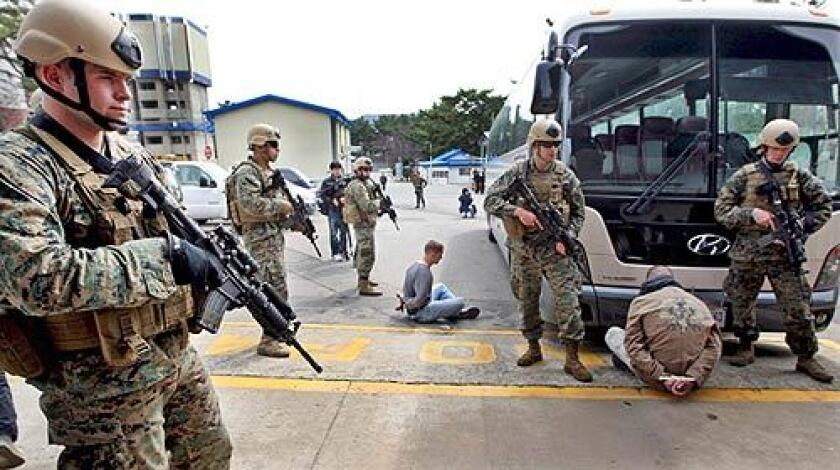 Joint military exercises in South Korea