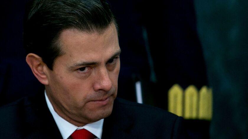 Mexico's president, Enrique Pena Nieto, in Mexico City last month.