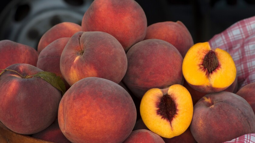 Choosing peaches that are still firm can be the best plan.