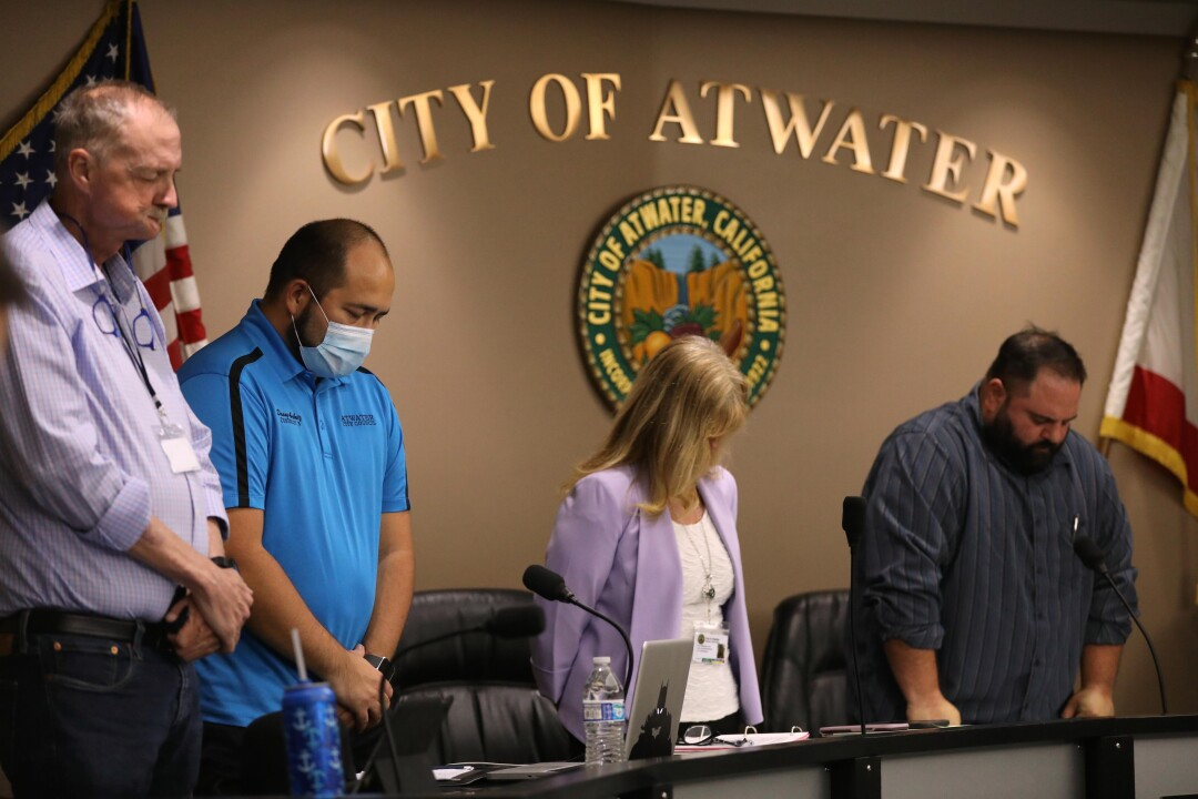 Atwater City Council members