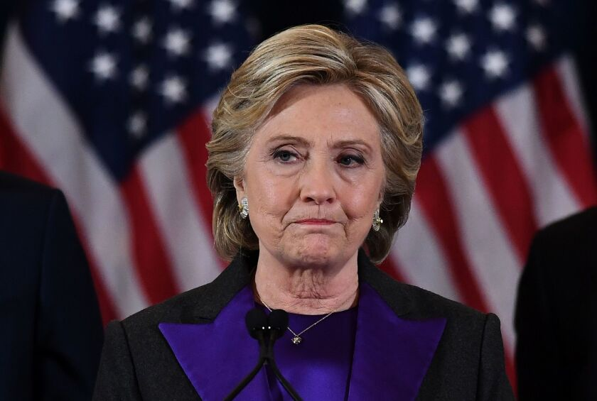 Hillary Clinton conceded to Donald Trump on Nov. 9 in New York City.