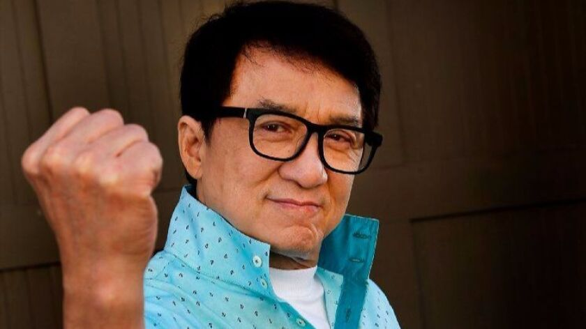 LOS ANGELES, CA.,SEPTEMBER 15, 2017--The venerable Jackie Chan, for a story on voicing a character i