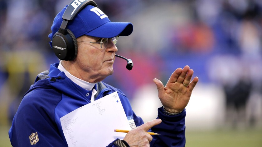 Coach Tom Coughlin might have two Super Bowl rings, but the Giants have no playoff appearances four seasons in a row.
