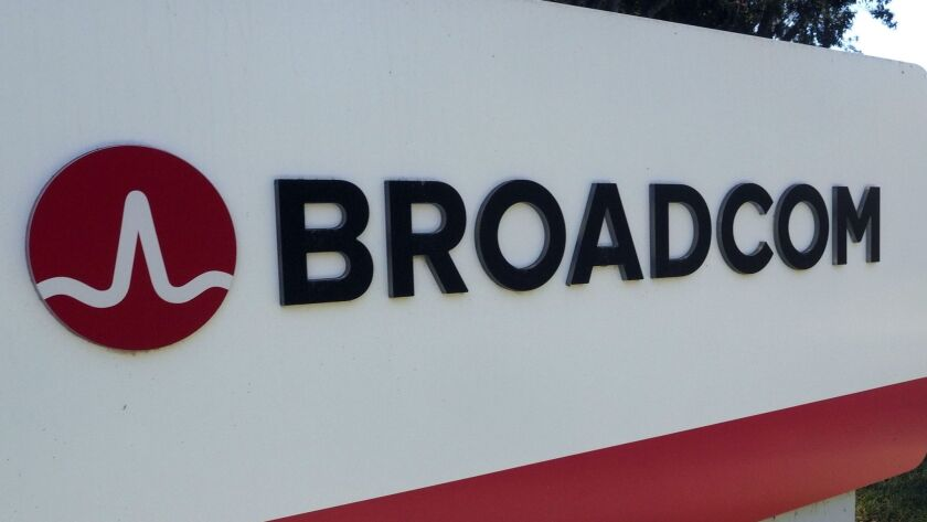 Broadcom bids 130 billion USD to buy Qualcomm, San Jose, USA - 06 Nov 2017