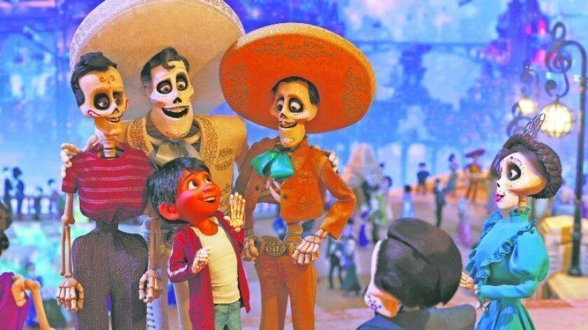 """In Disney/Pixar's """"Coco,"""" aspiring musician Miguel journeys through the Land of the Dead in search of his idol, Ernesto de la Cruz."""