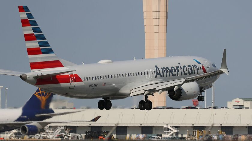 An American Airlines Boeing 737 Max 8