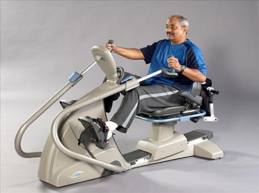 The NuStep is a recumbent cross-trainer that is specially designed to provide low-impact total-body exercise for any person, no matter what their physical condition.