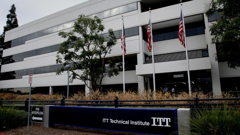 The ITT Technical Institute campus in Orange is one of several in Southern California that have closed their doors.