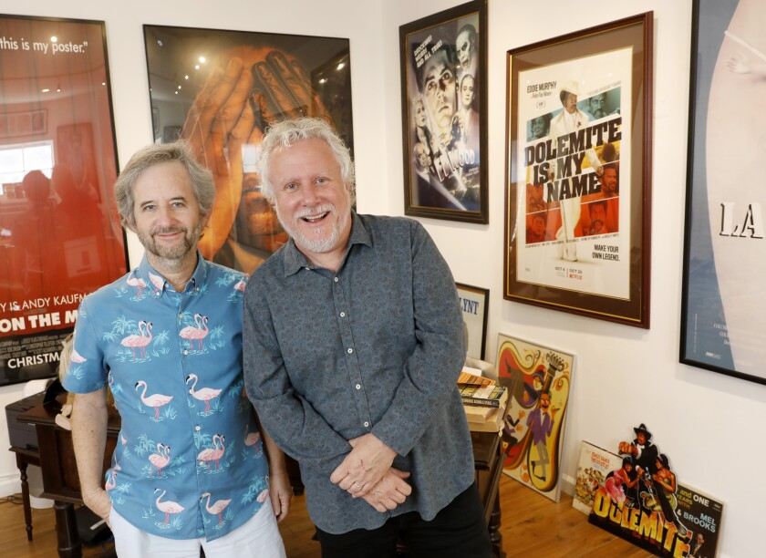 "Scott Alexander, left, and Larry Karaszewski, writers of the screenplay for ""Dolemite Is My Name,"""