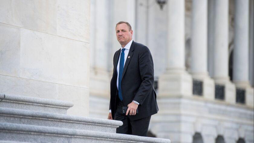 Rep. Jeff Denham (R-Turlock) arrives at the Capitol on April 18, 2018.