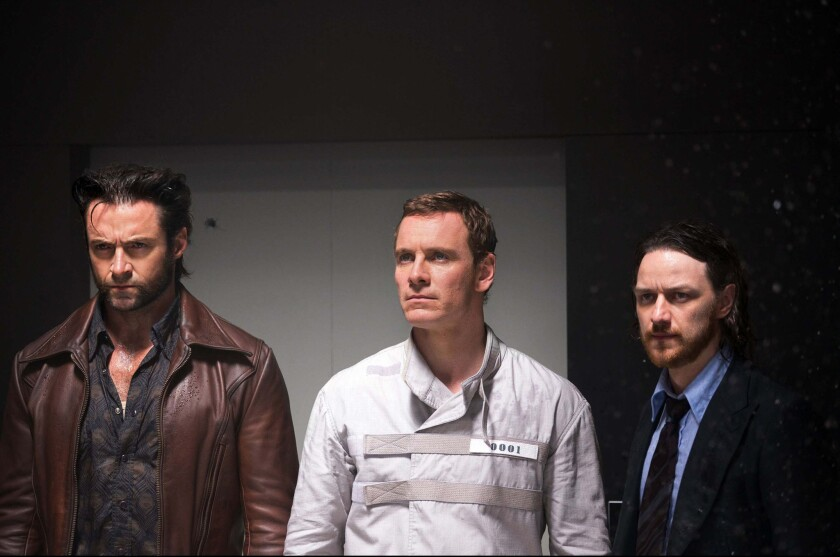 """Hugh Jackman, Michael Fassbender and James McAvoy in the movie """"X-Men: Days of Future Past."""""""