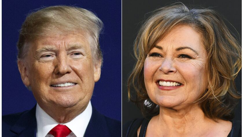 President Trump and Roseanne Barr.