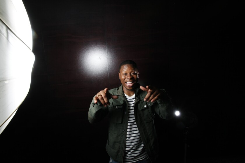 """Jason Mitchell brings """"the rain"""" and tears to his role as Eric """"Eazy-E"""" Wright in the new hit film """"Straight Outta Compton."""""""
