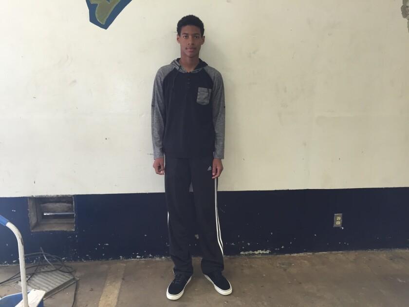 Freshman Mason White of Birmingham is 14 years old.