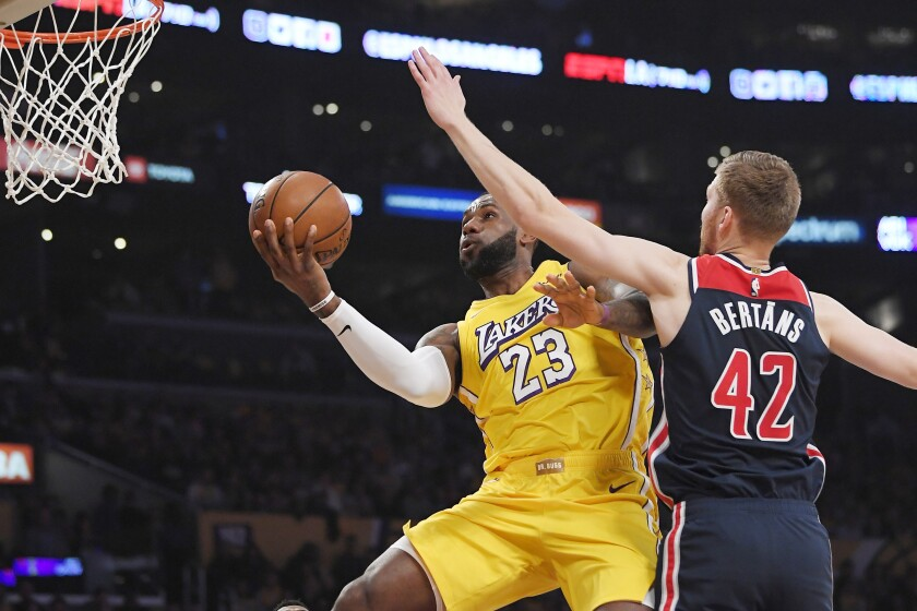 Wizards Lakers Basketball