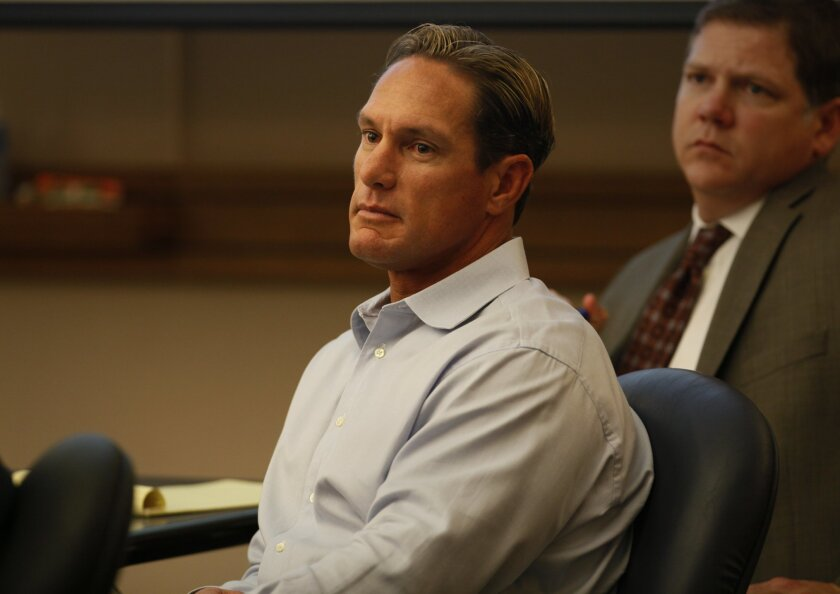 Former Padres outfielder Brian Giles in court March 24, 2011. He was sued by former live-in girlfriend Cheri Olvera.