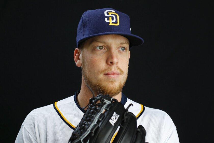 San Diego Padres pitcher Buddy Baumann.