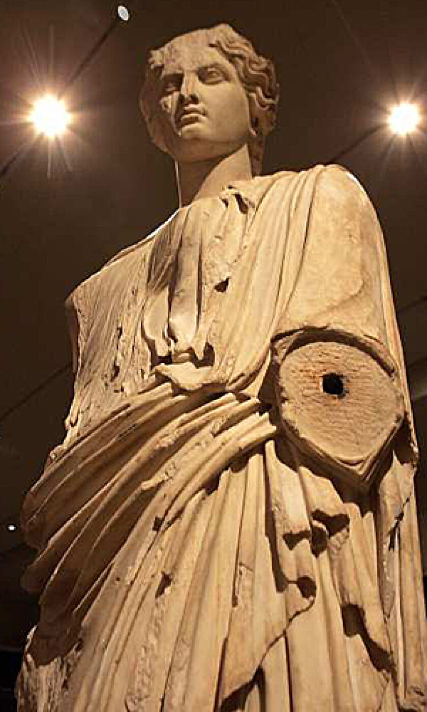<b>APHRODITE:</b> This sculpture comes from the Bay of Naples, where the summer of 79 ended abruptly on Aug. 24.