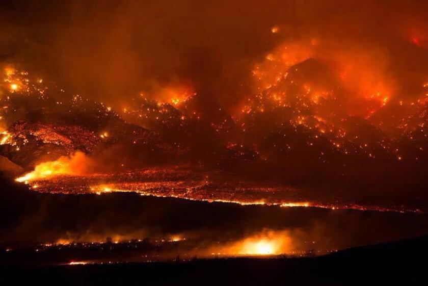Eastern Sierra forest fire