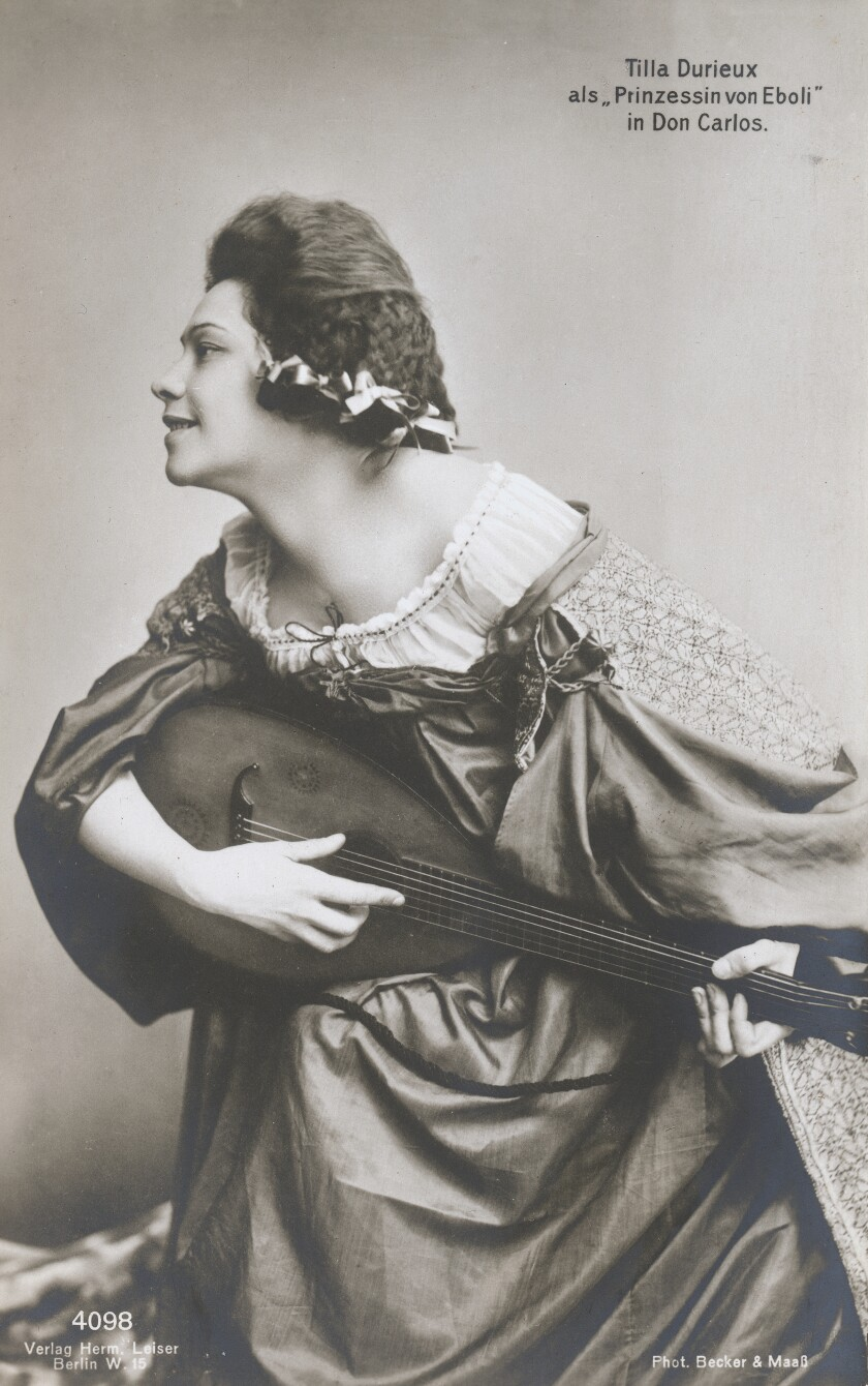"""Actress Tilla Durieux as the Princess of Eboli in the play """"Don Carlos."""""""