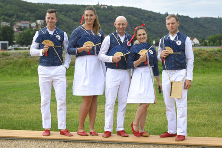 Deportistas de la República Checa para los Juegos Olímpicos de Tokio 2020 en Praga, República Checa
