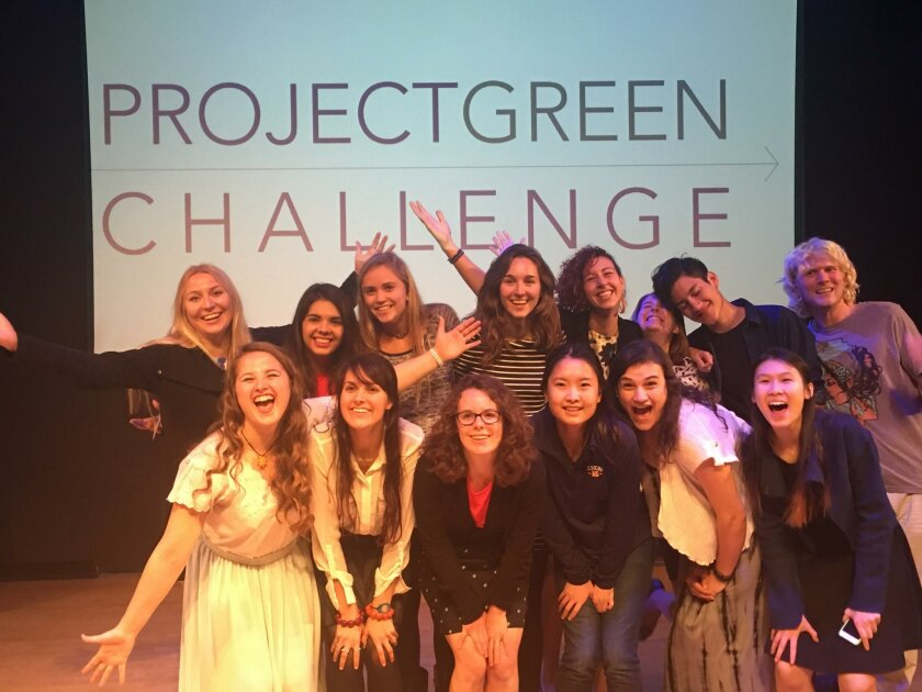 Among the 14 finalists at the 2015 Project Green Challenge conference is Megan Phelps (bottom row, third from left).