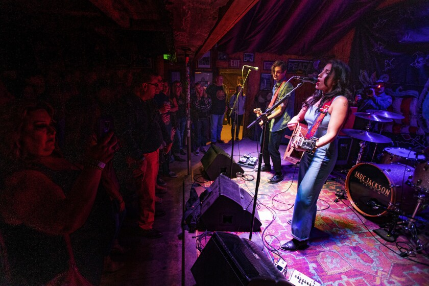 PIONEERTOWN, CA - APRIL 5, 2019: Country singer and songwriter performs at intimate setting Poppy &