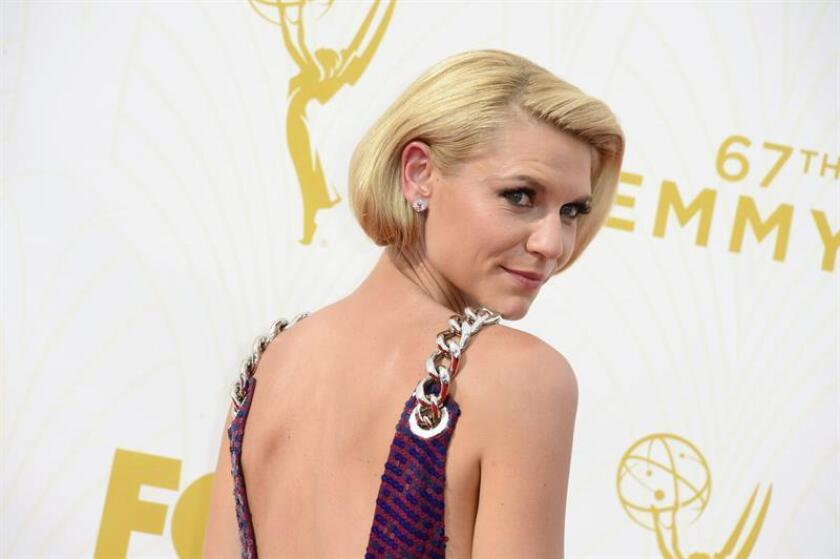 Claire Danes arrives for the 67th annual Primetime Emmy Awards held at the Microsoft Theater in Los Angeles, California, USA, 20 September 2015. EFE/EPA/ARCHIVO