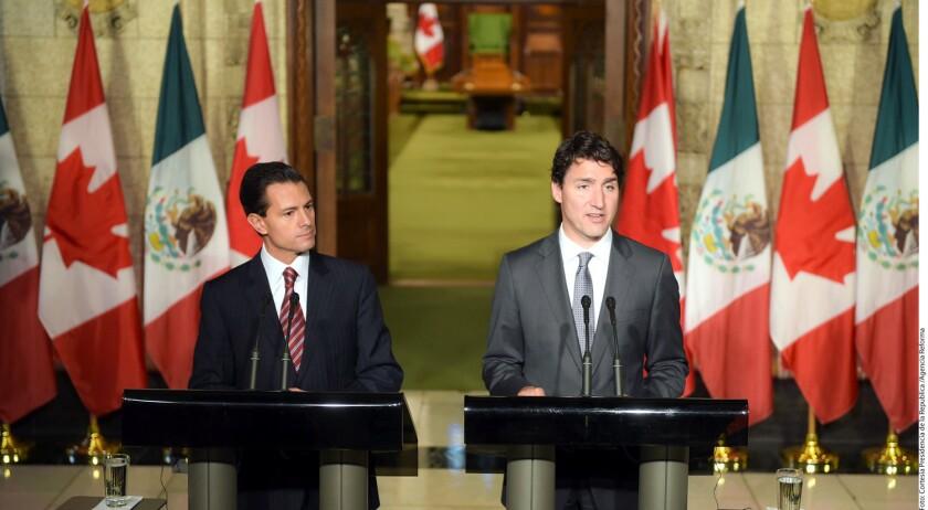 Para el Presidente Enrique Peña Nieto (izq.), que los mexicanos ya no necesiten visa para viajar a Canadá es muestra de la nueva relación bilateral que quieren sostener ambos países, anteponiendo una migración legal y ordenada.