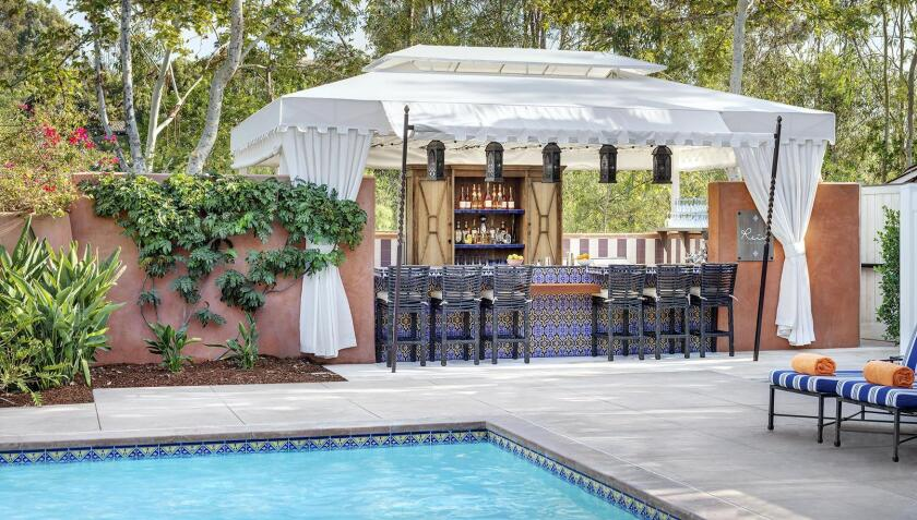 The new Rein bar at Rancho Valencia.