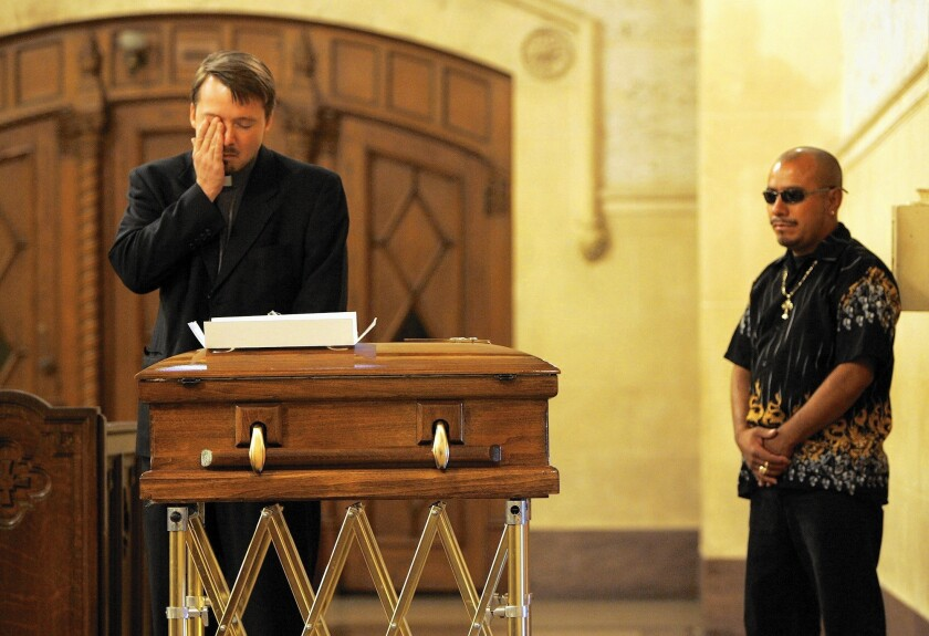 Funeral for an infant in 2007