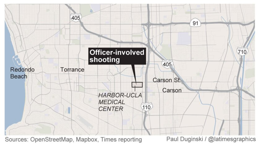 LAPD officer is involved in shooting at Harbor-UCLA Medical