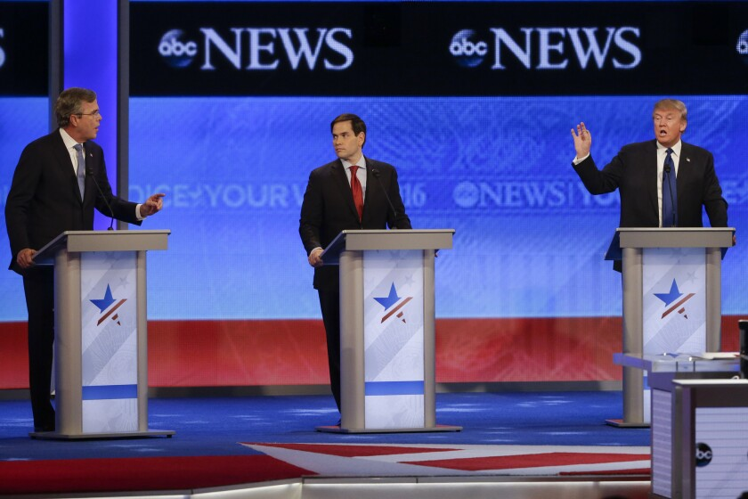 Republican presidential candidates debate before New Hampshire primary
