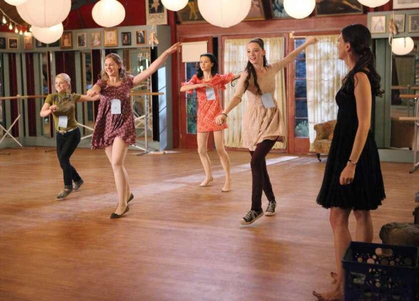 "Bailey Buntain, Kaitlyn Jenkins, Julia Goldani Telles, Emma Dumont and Sutton Foster in the ABC Family series ""Bunheads."""