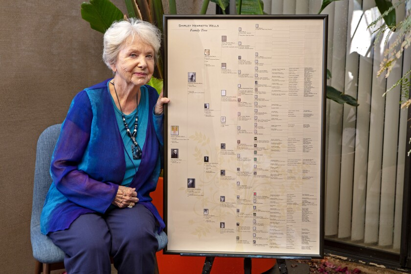 Shirley Ruge has been working on her family tree for decades.