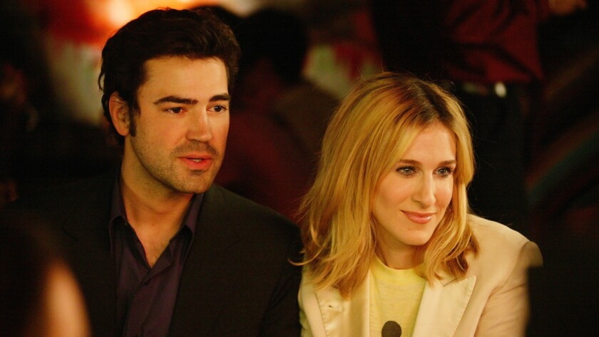 Scene from the HBO series SEX AND THE CITY 2003 Episodes. Ron Livingston, Sarah Jessica Parker.