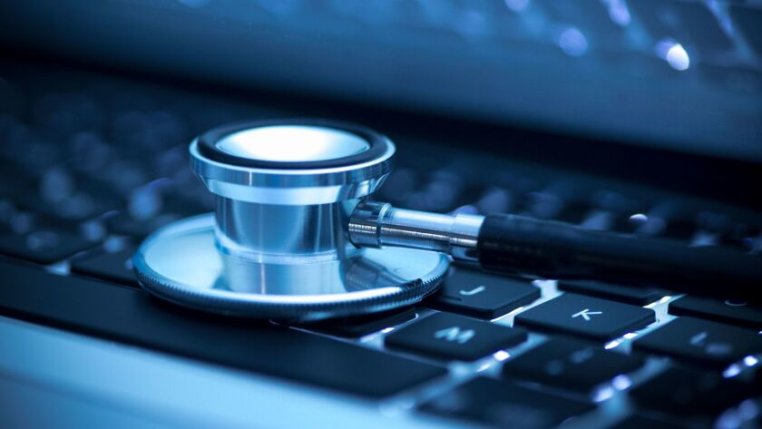 Stethoscope on keyboard ** OUTS - ELSENT, FPG, CM - OUTS * NM, PH, VA if sourced by CT, LA or MoD **