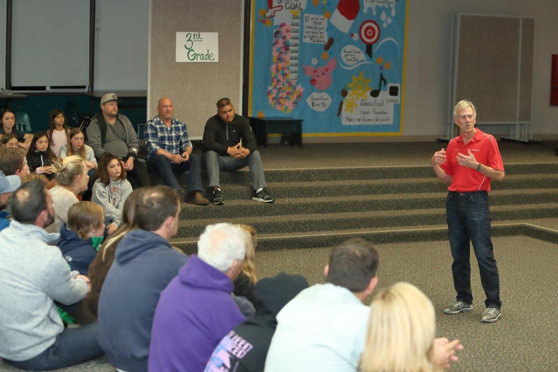 Solana Beach Soccer Club president Jeff Lyle describes the meaning of the Scott Billington Memorial Award for coaches