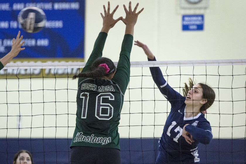 Calvary Chapel girls' volleyball sweeps Costa Mesa, takes sole possession of first place
