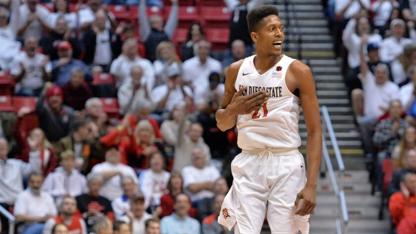 SDSU senior Malik Pope is 8 of 9 behind the 3-point arc in his career at Colorado State's Moby Arena.