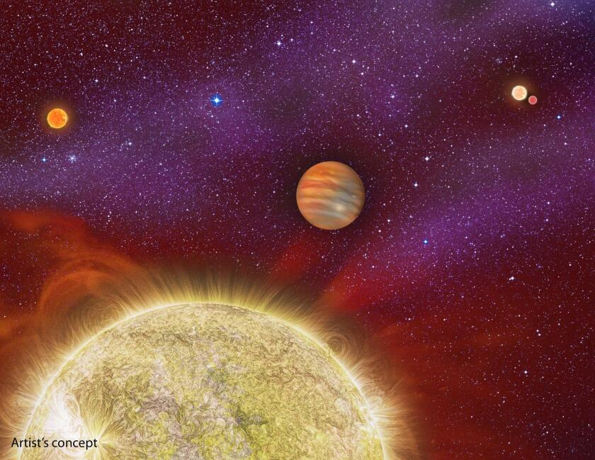 Planet with four suns