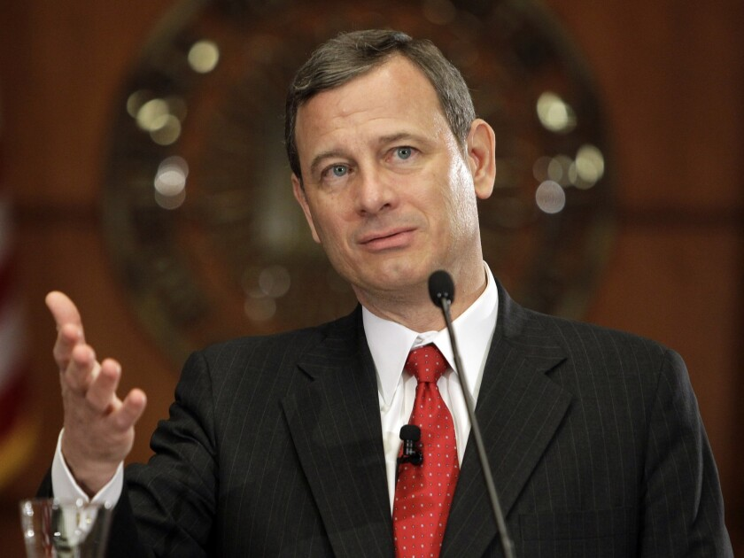 """An educated user of English would not describe Bond's crime as involving a 'chemical weapon,'"" said Chief Justice John Roberts, seen here in 2010."