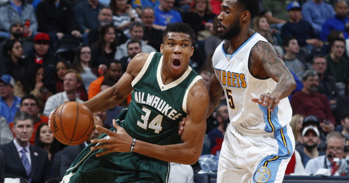 Bucks All Star Giannis Antetokounmpo All 6 Feet 11 Of Him Is Reviving The Franchise Los Angeles Times