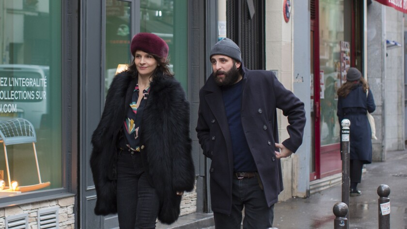 (L-R)- Juliette Binoche as ?Selena? and Vincent Macaigne as ?L?onard Spiegel? in Olivier Assayas?s ""