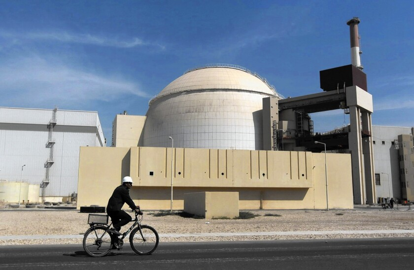 The reactor at the Bushehr nuclear power plant in Iran.