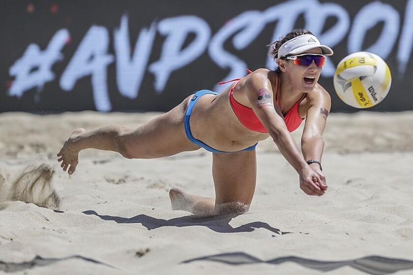 Beach volleyball player Betsi Flint