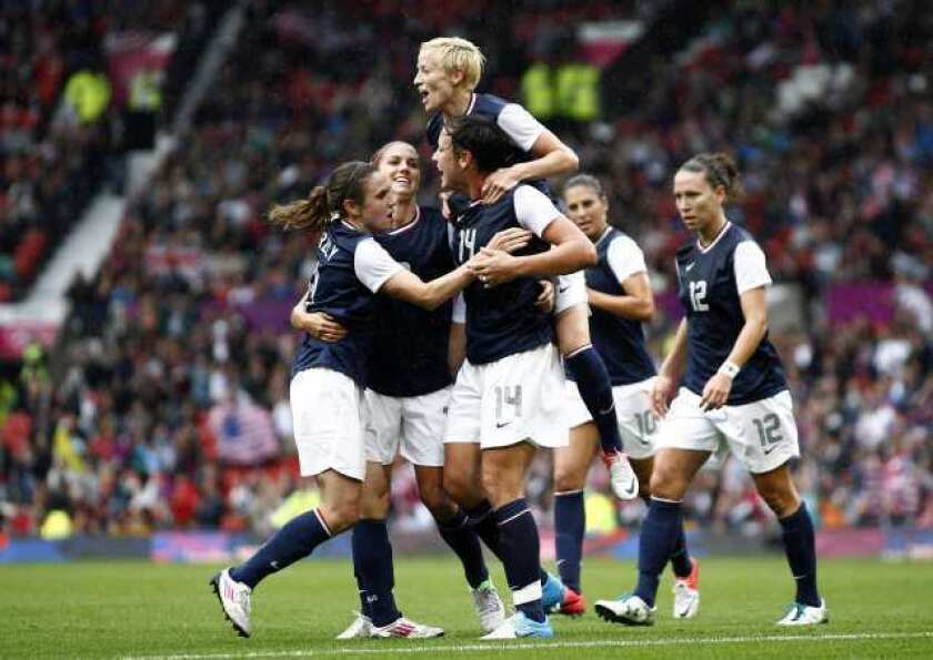 U.S. women's soccer team leads North Korea at the half, 1-0