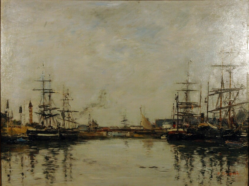 """Harbor"" by Eugène Louis Boudin"