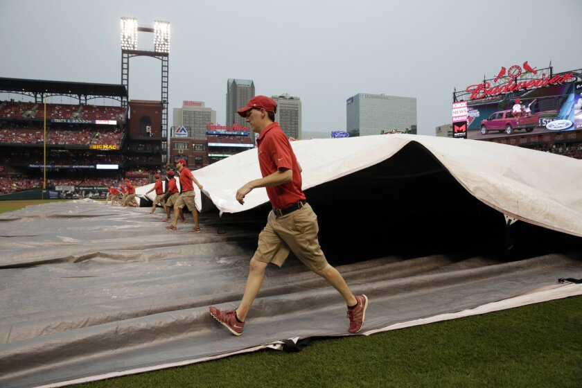 Padres-Cardinals postponed by weather